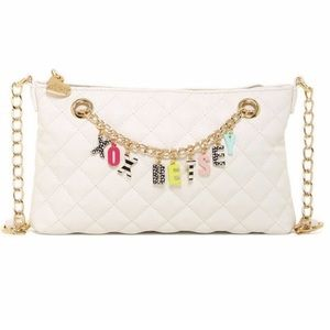 Betsey Johnson quilted A B charmed crossbody purse